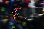 Richie Porte (AUS) BMC Racing Team in action during Stage 1, a 14km individual time trial around Dusseldorf, of the 104th edition of the Tour de France 2017, Dusseldorf, Germany. 1st July 2017.<br /> Picture: ASO/Alex Broadway | Cyclefile<br /> <br /> <br /> All photos usage must carry mandatory copyright credit (&copy; Cyclefile | ASO/Alex Broadway)