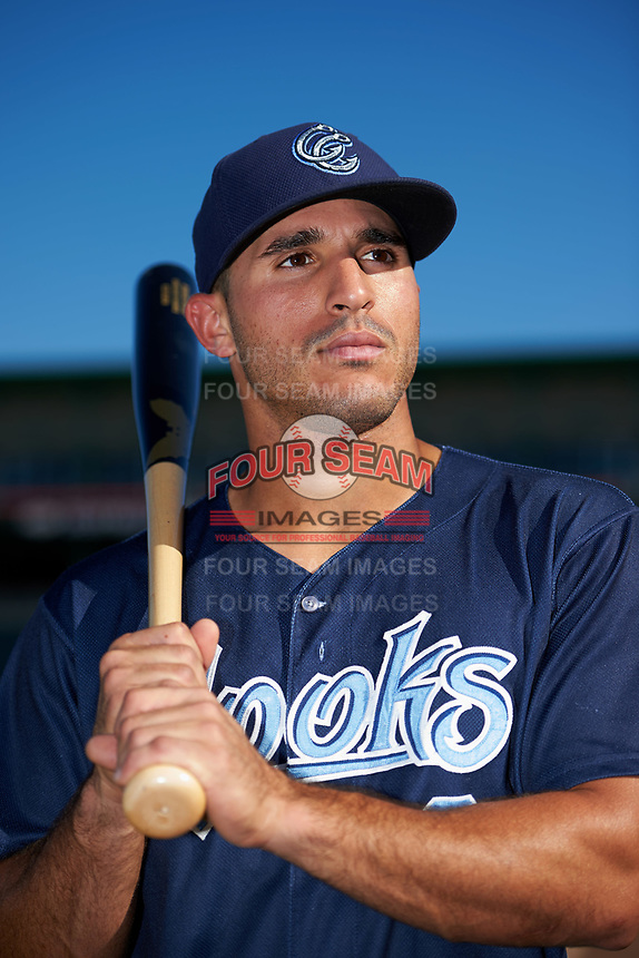 Corpus Christi Hooks Ramon Laureano (9) poses for a photo before a game against the Springfield Cardinals on May 30, 2017 at Hammons Field in Springfield, Missouri.  Springfield defeated Corpus Christi 4-3.  (Mike Janes/Four Seam Images)