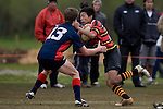 Pukekohe High School vs Rosehill College. Counties Manukau Junior Rugby finals day held at Bruce Pulman Park Papakura on Saturday August 30th 2008.