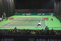 Rotterdam, Netherlands, 11 februari, 2017, ABNAMROWTT,  Qualyfying round,  Ernest Gulbis (LAT) vs Stakhovsky<br /> Photo: Henk Koster