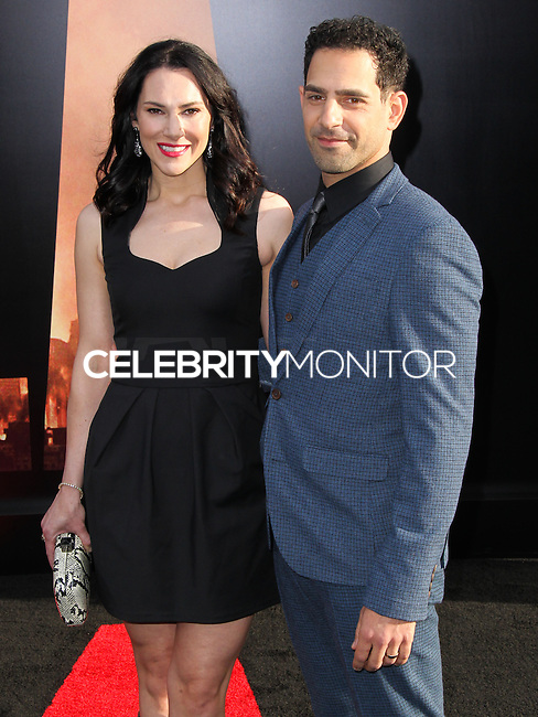 "HOLLYWOOD, LOS ANGELES, CA, USA - MAY 08: Kyra Zagorsky, Patrick Sabongui at the Los Angeles Premiere Of Warner Bros. Pictures And Legendary Pictures' ""Godzilla"" held at Dolby Theatre on May 8, 2014 in Hollywood, Los Angeles, California, United States. (Photo by Xavier Collin/Celebrity Monitor)"