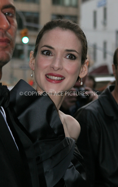 WWW.ACEPIXS.COM . . . . .  ....May 7 2007, New York City....Winona Ryder....On the way to the Costume Institute at the Metropolitain Museum Gala 2007.....Please byline: NANCY RIVERA- ACE PICTURES.... *** ***..Ace Pictures, Inc:  ..tel: (646) 769 0430..e-mail: info@acepixs.com..web: http://www.acepixs.com