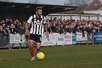 Nathan Arnold of Grimsby Town during the FA Trophy Semi Final first leg match between Bognor Regis and Grimsby Town at Nyewood Lane, Bognor Regis, England on 12 March 2016. Photo by Paul Paxford/PRiME Media Images.