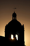 Nightfall in the church of Santisima Trinidad del Arrabal, Salamanca, Castilla y Leon, Spain