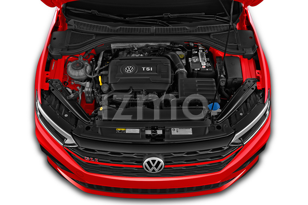 Car stock 2019 Volkswagen Jetta GLI-S 4 Door Sedan engine high angle detail view