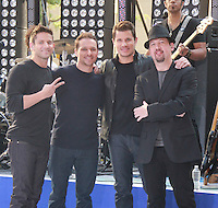 August 17, 2012 Jeff Timmons, Drew Lachey, Nick Lachey,Justin Jeffre,   98 Degrees perform on the NBC's Today Show Toyota Concert Serie at Rockefeller Center in New York City.Credit:&copy; RW/MediaPunch Inc. /NortePhoto.com<br />