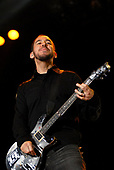 Linkin Park - rhythm guitarist Mike Shinoda performing live on Day Two on the main stage at the Download Festival 2007 held at Donington Park Leicestershire UK - 09 Jun 2007.  Photo <br /> Credit: Ben Rector/IconicPix