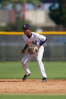 New York Yankees shortstop Jose Devers (4) during an Instructional League game against the Baltimore Orioles on September 23, 2017 at the Yankees Minor League Complex in Tampa, Florida.  (Mike Janes/Four Seam Images)
