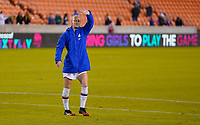 HOUSTON, TX - JANUARY 28: Becky Sauerbrunn #4 of the United States celebrates with the fans during a game between Haiti and USWNT at BBVA Stadium on January 28, 2020 in Houston, Texas.