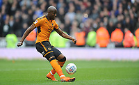 GOAL - Wolverhampton Wanderers' Benik Afobe scores his side's second goal <br /> <br /> Photographer Ashley Crowden/CameraSport<br /> <br /> The EFL Sky Bet Championship - Wolverhampton Wanderers v Birmingham City - Sunday 15th April 2018 - Molineux - Wolverhampton<br /> <br /> World Copyright &copy; 2018 CameraSport. All rights reserved. 43 Linden Ave. Countesthorpe. Leicester. England. LE8 5PG - Tel: +44 (0) 116 277 4147 - admin@camerasport.com - www.camerasport.com