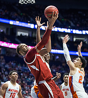 NWA Democrat-Gazette/BEN GOFF @NWABENGOFF<br /> Daniel Gafford, Arkansas forward, shoots in the first half vs Florida Thursday, March 14, 2019, during the second round game in the SEC Tournament at Bridgestone Arena in Nashville.