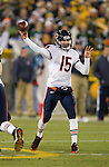 Chicago Bears quarterback Josh McCown (15) throws a pass during a week 16 NFL football game against the Green Bay Packers on December 25, 2011 in Green Bay, Wisconsin. The Packers won 35-21. (AP Photo/David Stluka)