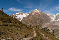 View from the Col de Youla overlooking the Glacier du Miage and Lac du Miage, September 2007