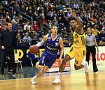 12.02.2019, Mercedes Benz Arena, Berlin, GER, ALBA ERLIN vs.  Basketball Loewen Braunschweig, <br /> im Bild Kenneth Ogbe (ALBA Berlin #25), Thomas Klepeisz (Braunschweig #10)<br /> <br />      <br /> Foto © nordphoto / Engler