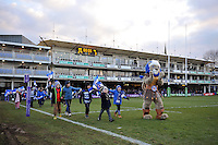 A general view of a half-time parade of supporters. European Rugby Challenge Cup match, between Bath Rugby and Pau (Section Paloise) on January 21, 2017 at the Recreation Ground in Bath, England. Photo by: Patrick Khachfe / Onside Images