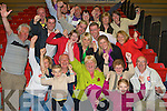 Marie Moloney celebrates with her supporters being elected at the Kerry County Council Killarney area election count in the Aura Sports Centre in Killarney on Sunday