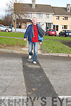 PEDESTRIAN: Sammy Locke at the new pedestrian crossing ready for the residents of Spa Road, Balloonagh Estate and Ballyrickard Court on Saturday morning..
