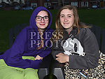 lavinia Reidy and Sophie McGlue at the outdoor cinema in Inse Bay Laytown. Photo:Colin Bell/pressphotos.ie