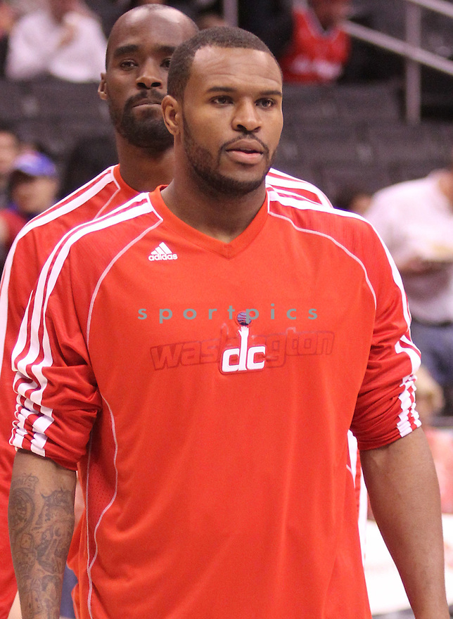 Washington Wizards Trevor Booker (35) in action during a game against the Clippers on January 19, 2013 at the Staples Center in Los Angeles, CA. The Clippers beat the Wizards 94-87.