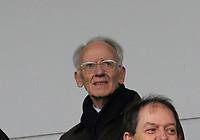 Former SFA President Jack McGinn there to see his grandson, St Mirren captain St Mirren  celebrate after winning the Scottish Professional Football League Ladbrokes Championship at the Paisley 2021 Stadium, Paisley on 14.4.18.