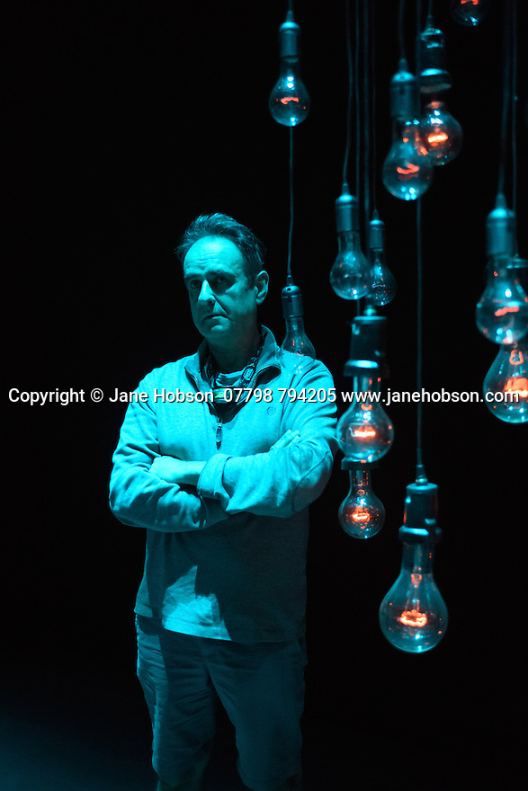London, UK. 06.06.2016. Sadler's Wells presents NO BODY, an immersive, experiental, series of installations by Associates Michael Hulls, Nitin Sawhney, Lucy Carter, Siobhan Davies and Russell Maliphant. Picture shows: Michael Hulls, Lighting Designer, in his installation, entitled LIGHT SPACE. Photograph © Jane Hobson.