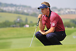 Luke Donald on the 5th green on day two of the Celtic Manor wales Open 2010.Picture Fran Caffrey/Newsfile.ie