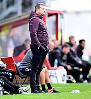 Forest Green Rovers manager Mark Cooper shouts instructions to his team from the technical area<br /> <br /> Photographer Andrew Vaughan/CameraSport<br /> <br /> The EFL Sky Bet League Two - Lincoln City v Forest Green Rovers - Saturday 3rd November 2018 - Sincil Bank - Lincoln<br /> <br /> World Copyright &copy; 2018 CameraSport. All rights reserved. 43 Linden Ave. Countesthorpe. Leicester. England. LE8 5PG - Tel: +44 (0) 116 277 4147 - admin@camerasport.com - www.camerasport.com