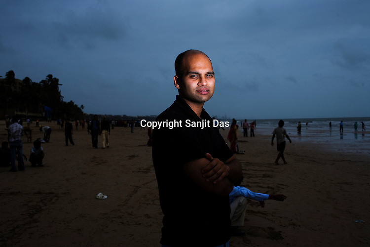 Author Aravind Adiga poses for  a portrait in Mumbai, India. Adiga won the Booker prize 2008 for his debut book, The White Tiger.