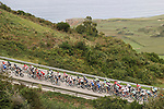 The peloton climb during Stage 18 of the 2017 La Vuelta, running 169km from Suances to Santo Toribio de Li&eacute;bana, Spain. 7th September 2017.<br /> Picture: Unipublic/&copy;photogomezsport | Cyclefile<br /> <br /> <br /> All photos usage must carry mandatory copyright credit (&copy; Cyclefile | Unipublic/&copy;photogomezsport)