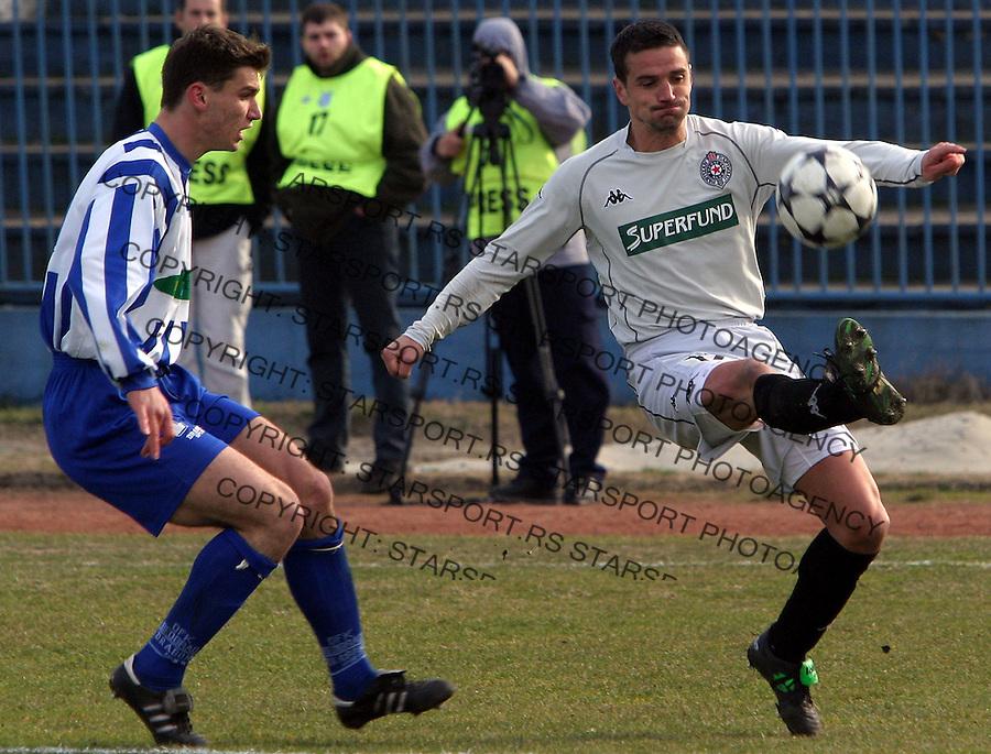 fudbal.OFK BEOGRAD-PARTIZAN.ZORAN BATA MIRKOVIC.BGD, 13.03.2004..FOTO: SRDJAN STEVANOVIC