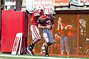 11 September 2010: Nebraska quarterback Taylor Martinez (3) scores a touchdown against Idaho at Memorial Stadium in Lincoln, Nebraska. Nebraska defeated Idaho 38 to 17.