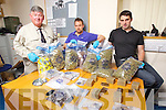 Gardai who took part in a drugs bust on Friday evening were l-r: Sergeant Declan Liddane (Sergeant in charge of divisional drugs unit) Garda John Alfred and Garda Eoin Donovan.