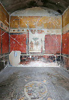 Sacerdos Amandus' domus one of  Six ancient residences, or 'domus', at archaeological excavations of Pompeii  reopen to visitors  following restoration.<br /> <br /> Pompei  sei domus riaprono al pubblico dopo il restauro