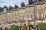 Georgian terrace, Bathwich Hill, Bath, England