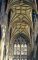 Bristol: St. Mary Redcliffe, interior North Transept. Photo '90.