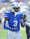 Duke Blue Devils Jamison Crowder (3) during a game against the Tulane Green Wave on September 20, 2014 at Wallace Wade Stadium in Durham, NC. Duke beat Tulane 47-13.