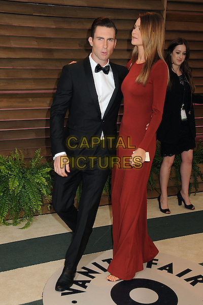 02 March 2014 - West Hollywood, California - Adam Levine, Behati Prinsloo. 2014 Vanity Fair Oscar Party following the 86th Academy Awards held at Sunset Plaza.  <br /> CAP/ADM/BP<br /> &copy;Byron Purvis/AdMedia/Capital Pictures