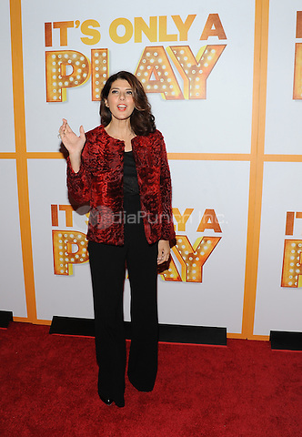 New York,NY-October 9: Marisa Tomei  attends 'It's Only A Play' Broadway Opening Night - Arrivals And Curtain Call at Gerald Schoenfeld Theatre in New York City on October 9, 2014. Credit: John Palmer/MediaPunch