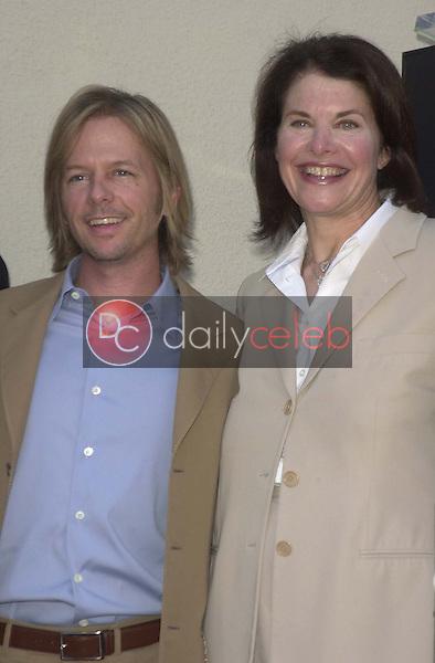 David Spade and Sherry Lansing