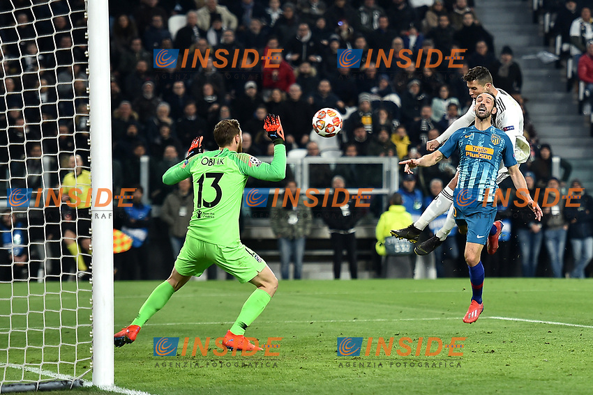 Cristiano Ronaldo of Juventus scores goal of 1-0 for his side<br />  during the Uefa Champions League 2018/2019 round of 16 second leg football match between Juventus and Atletico Madrid at Juventus stadium, Turin, March, 12, 2019 <br />  Foto Andrea Staccioli / Insidefoto