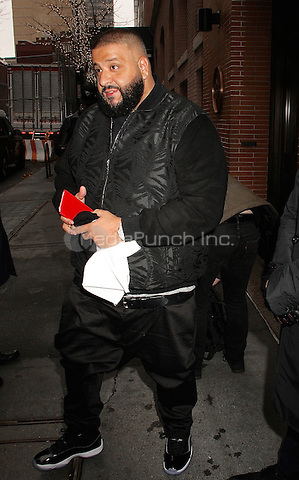 NEW YORK, NY - DECEMBER 7:  DJ Khaled arrives at 'The View'  in New York, New York on December 7, 2016.  Photo Credit: Rainmaker Photo/MediaPunch
