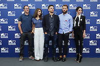 From left, Valerio Mastandrea,  Silvia D'Amico, Luca Marinelli, Alessandro Borghi and Roberta Mattei attend a photocall for the movie 'Don't Be Bad' during the 72nd Venice Film Festival at the Palazzo Del Cinema in Venice, Italy, September 7, 2015.<br /> UPDATE IMAGES PRESS/Stephen Richie