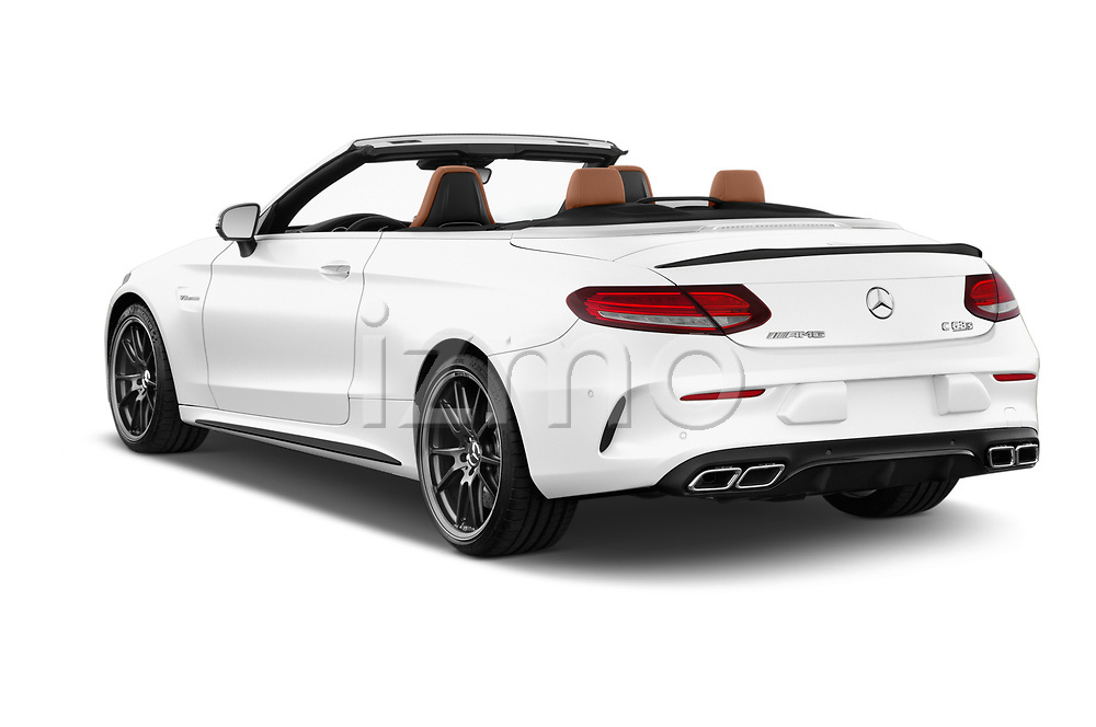 Car pictures of rear three quarter view of 2017 Mercedes Benz C Class AMG 63 S 2 Door Convertible angular rear