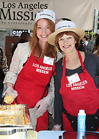 LOS ANGELES, CA - April 14: Alicia Witt, Frances Fisher, At Los Angeles Mission's Easter Celebration For The Homeless At Los Angeles Mission  In California on April 14, 2017. <br /> CAP/MPI/FS<br /> &copy;FS/MPI/Capital Pictures