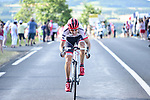 Bauke Mollema (NED) Trek-Segafredo gets away from the breakaway group during Stage 15 of the 104th edition of the Tour de France 2017, running 189.5km from Laissac-Severac l'Eglise to Le Puy-en-Velay, France. 16th July 2017.<br /> Picture: ASO/Pauline Ballet | Cyclefile<br /> <br /> <br /> All photos usage must carry mandatory copyright credit (&copy; Cyclefile | ASO/Pauline Ballet)