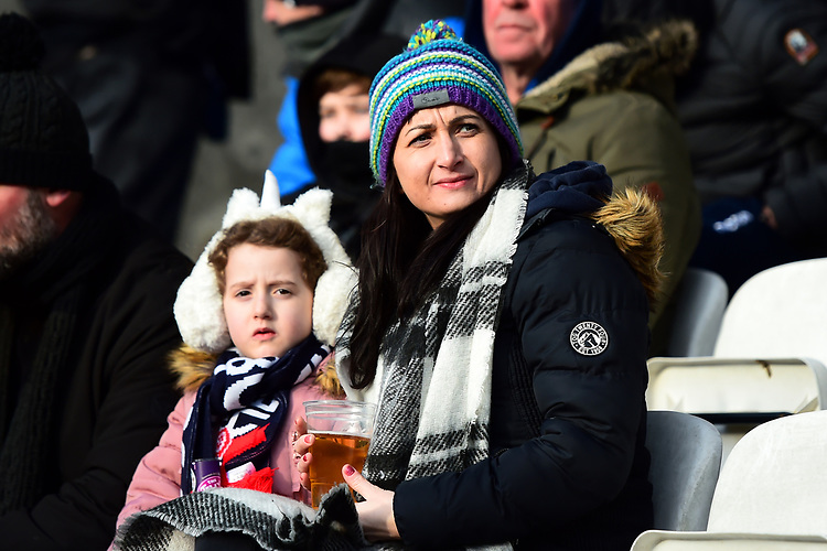Bolton Wanderers fans look on<br /> <br /> Photographer Richard Martin-Roberts/CameraSport<br /> <br /> The EFL Sky Bet Championship - Bolton Wanderers v Preston North End - Saturday 9th February 2019 - University of Bolton Stadium - Bolton<br /> <br /> World Copyright &copy; 2019 CameraSport. All rights reserved. 43 Linden Ave. Countesthorpe. Leicester. England. LE8 5PG - Tel: +44 (0) 116 277 4147 - admin@camerasport.com - www.camerasport.com