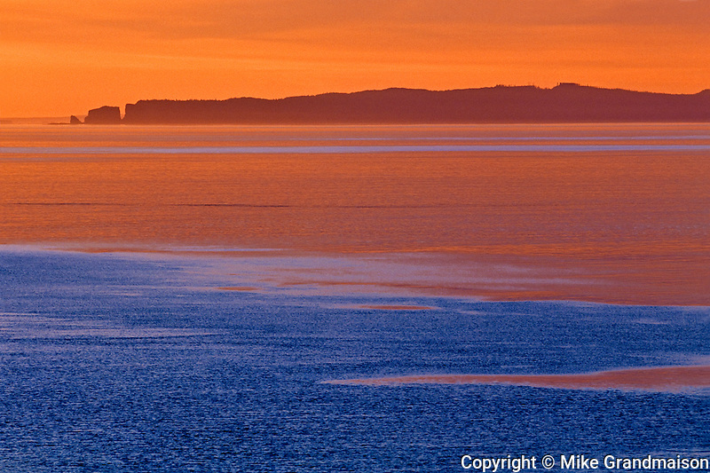 Bay of Fundy at dawn<br /> Cape d' Or<br /> Nova Scotia<br /> Canada
