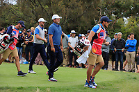 Patrick Reed (USA) on the 4th during the Second Round - Foursomes of the Presidents Cup 2019, Royal Melbourne Golf Club, Melbourne, Victoria, Australia. 13/12/2019.<br /> Picture Thos Caffrey / Golffile.ie<br /> <br /> All photo usage must carry mandatory copyright credit (© Golffile | Thos Caffrey)