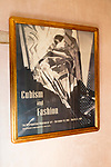 Interior of Palacio Chaves Hotel, historic medieval town of Trujillo, Caceres province, Extremadura, Spain Cubism and fashion poster