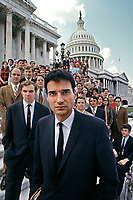 Ralph Nader and Nader's Raiders on steps of U.S. Capitol, Washington D.C. 1969. Photo by John G. Zimmerman.